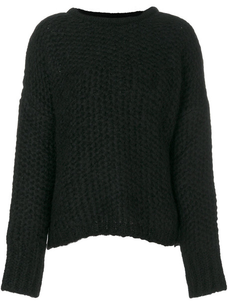 Thom Krom jumper loose women black wool knit sweater