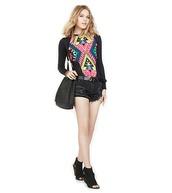 shirt,top,blogger,fashion blogger,ootd,fashion,shorts,boots,print,blonde hair,mara hoffman,dailylook,beautiful,shoes