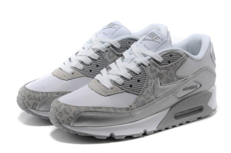 Nike WMNS Air Max 1 Print Grey Black White Sneakers Madame