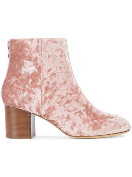 Rag & Bone heel women ankle boots leather purple pink shoes