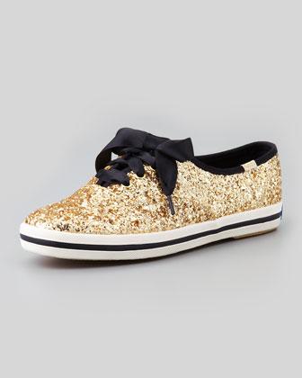 kate spade new york Keds Glitter Sneaker, Gold - Neiman Marcus