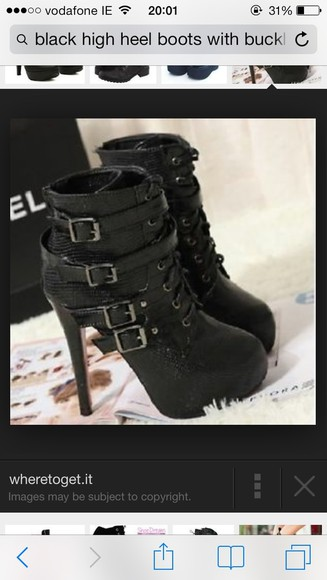shoes black buckles sea of shoes black high heels, prom shoes, platform heels, spikes trendy