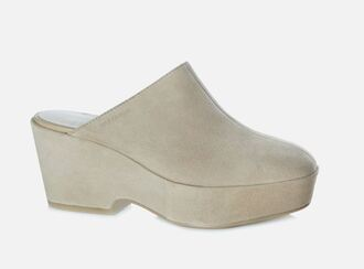 shoes nude mules vagabond wedges