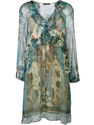 dress printed dress women silk