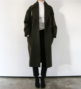 coat green oversized trench coat winter outfits minimalist