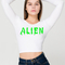 Slime white long sleeve crop top · the bone district ·