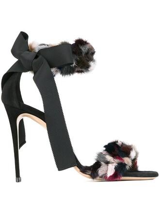 fur sandals shoes