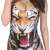 ROMWE | ROMWE Fierce Tiger Print Swimsuit, The Latest Street Fashion