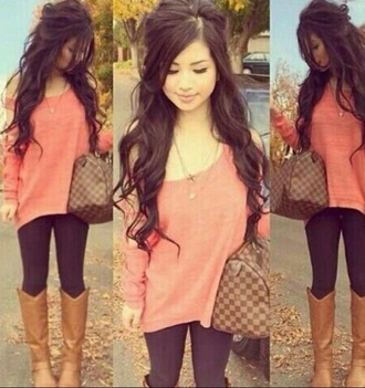 shoes brown leather boots brown boots fall outfits fashion