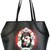 Cosimo Vinci dogs print tote bag, Women's, Black, Leather