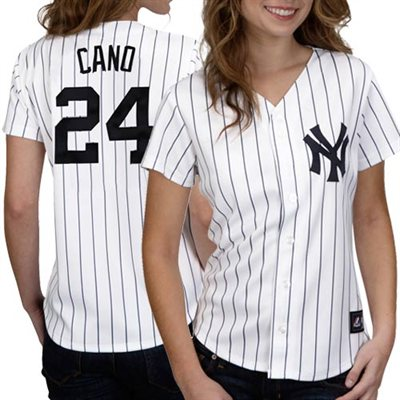 Majestic Robinson Cano New York Yankees Womens Replica Jersey - White - FansEdge.com