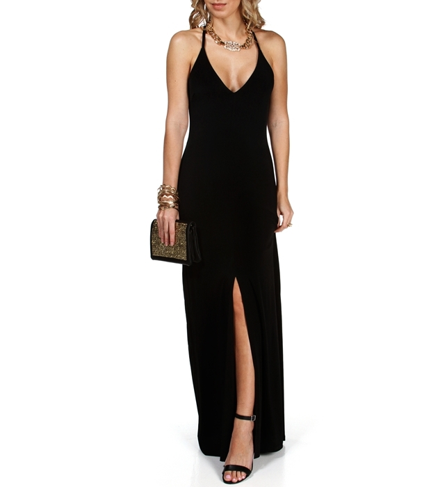Kirsten- X-Back Long Dress