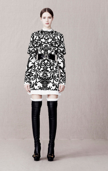 lookbook fashion alexander mcqueen jacket skirt