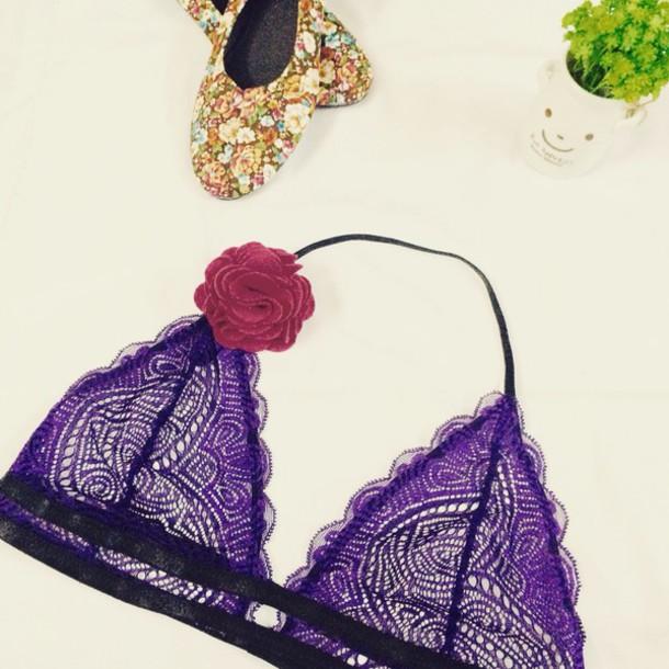42f45400584 underwear purple lavender lingerie lace bralette bra love sexy for her purple  bra purple bralette purple
