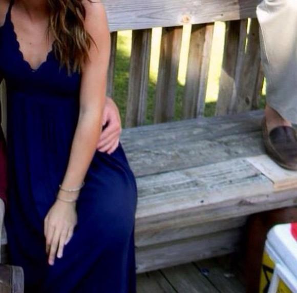 navy blue blue dress maxi dress blue maxi dress scalloped edges scalloped dress scalloped trim dress navy dress navy maxi