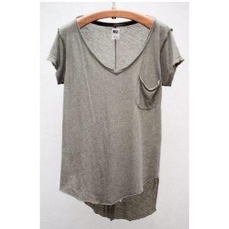 shirt grey loose long short sleeves