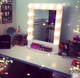 home accessory makeup table mirror