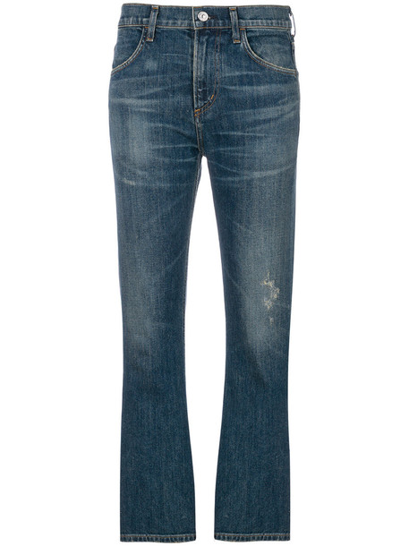 jeans cropped bootcut jeans cropped women cotton blue