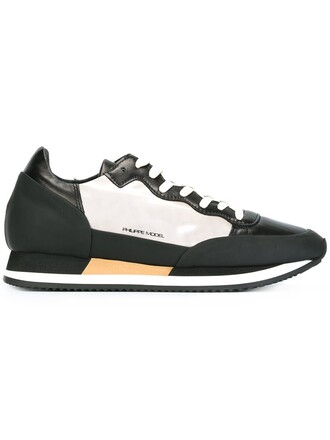 women chunky sole sneakers leather cotton black shoes