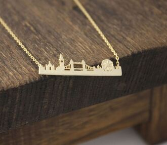 jewels necklace cityscape london minimalist cute tumblr pretty ootd fashion style beautiful wanderlust gold minimalist jewelry tumblr outfit accessories travel gold necklace