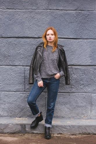 kristina magdalina blogger jewels jacket sweater jeans shoes