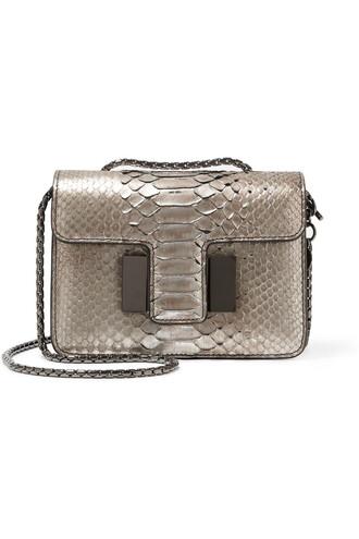 mini python bag shoulder bag snake silver print snake print