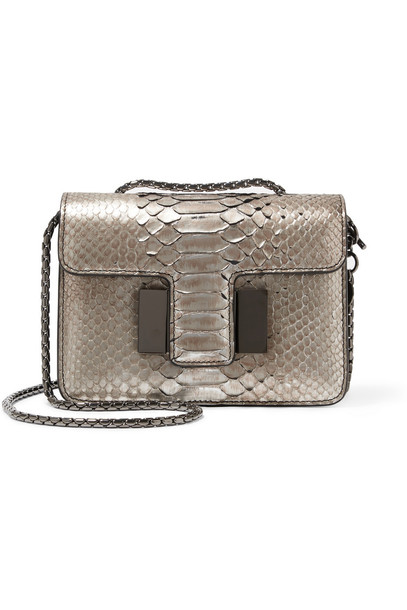 mini python bag shoulder bag snake silver print snake print