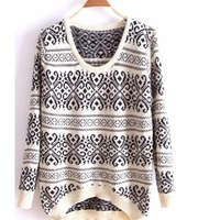 Cozy aztec knit sweater · doublelw · online store powered by storenvy