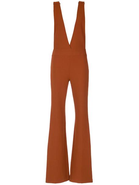 Nk jumpsuit women spandex brown