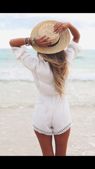 romper white style summer outfits summer dress