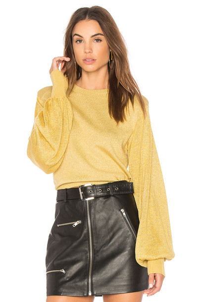 Free People sweater pullover yellow