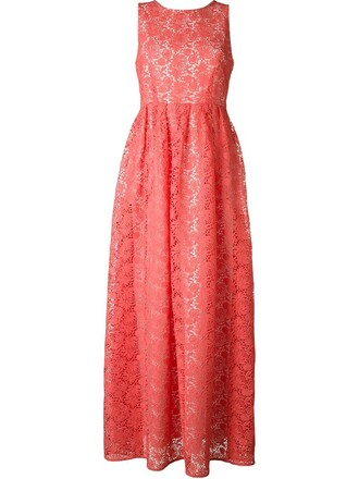 dress long dress long women embellished cotton purple pink