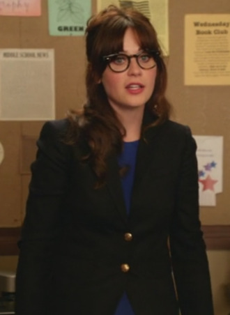 jacket jess new girl zooey deschanel blazer