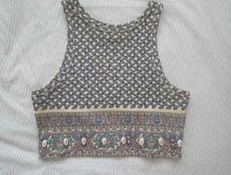 tribal pattern shirt tank top floral aztec light pattern crop tops