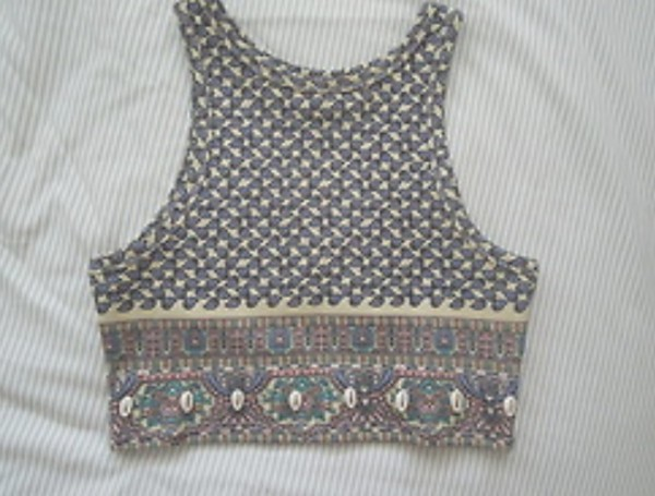 tank top pattern tank top shirt crop tops floral light tribal pattern aztec