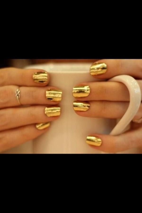 nail polish nails gold ring nail art finger nails
