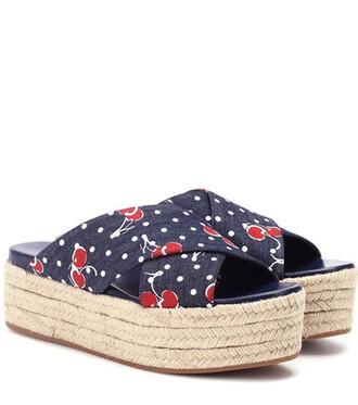 denim sandals blue shoes