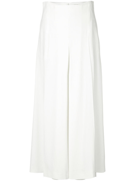 Alexander Mcqueen culottes women classic white pants