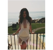dress,white dress,kylie jenner,sexy,see through,photoshoot,malibu,cut-out dress,cute,kardashians,bag,white,sheer,sexy dress,kylie jenner dress,bodycon dress,tight white dress,beige dress,short party dresses,beige,tight,teen girl,cut-out,celebrity,style,lovely,lwd,gorgeous dress,party dress,short dress,cleavage,keeping up with the kardashians
