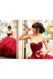 dress,red dress,red prom dress,red carpet dress,long red prom dress,2016 red prom dress,red prom dresses 2016,ball gown dress,ball gowns,ball gown prom dresses,cheap ball gown prom dresses,sweetheart dress,sweetheart neckline,tulle skirt,tulle dress,tulle prom dress,formal dress,formal party dresses,formal event outfit,formal dresses evening