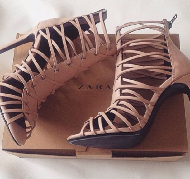 d947a7c66d4 shoes style strappy strappy heels high heels nude high heels nude zara  shoes leather