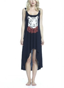Lauren Moshi Daria Red Rose Tiger Tank Dress - Pradux