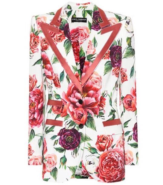 Dolce & Gabbana Floral blazer in pink