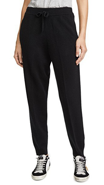 TSE Cashmere pants drawstring black