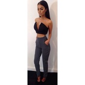 high waisted,blouse,pants,t-shirt,black,cute,sexy,summer outfits,top,high waisted pants,patterned pants,bandeau top,swag,gorgeous,pretty,girly,classy,party,party outfits,cute outfits,cool,girl,rad,chill,dope,summer,make-up,body,body goals,style,trendy,fashion inspo,outfit idea,outfit,tumblr,tumblr outfit,tumblr girl,blogger,fashionista,chillen,on point clothing