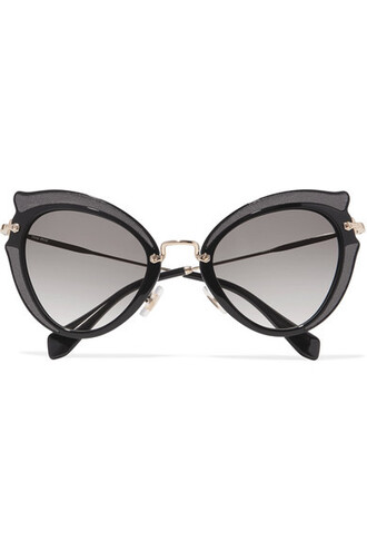 embellished sunglasses gold black