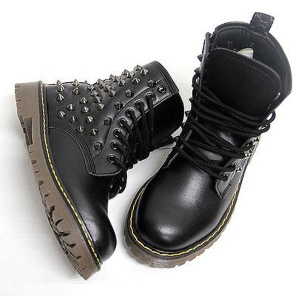 Shoes Black Studded Shoes Black Shoes Punk Rock