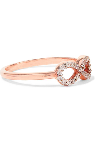 rose gold rose infinity ring gold jewels