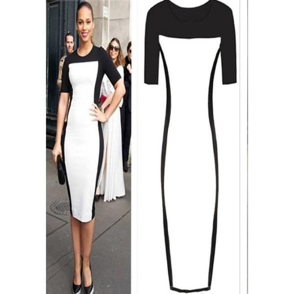 Bodycon dresses black and white
