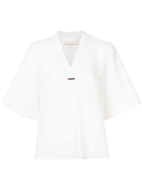 Ginger & Smart - Secret Vice blouse - women - Silk - 14, White, Silk